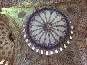 Blue Mosque ceiling Istanbul