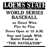 L.A. Times ad -- I bet Keaton didn't mind being second on the bill to the World Series.