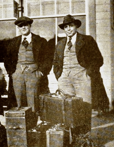Marshall Neilan and Tony Gaudio, off to shoot In Old Kentucky (1919)
