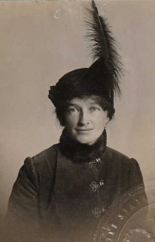 Ruth Ann Baldwin, 1915 passport photo