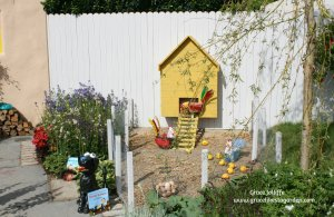 Children's chicken run in Bloom In the Park Festival