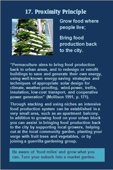 Promimity Principle Permaculture Card 17