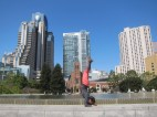 Love the view of the buildings from Yerba Buena Center!
