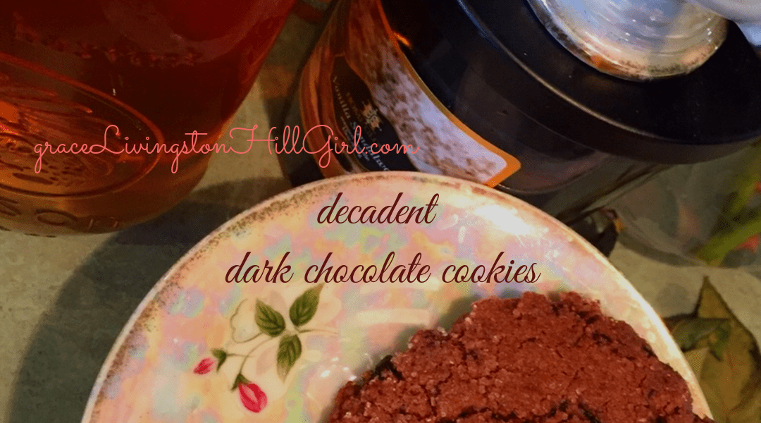 decadent dark chocolate cookies