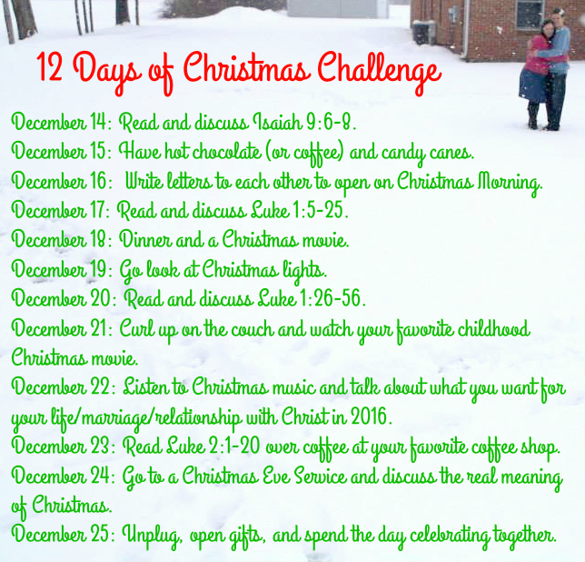 Christmas Challenge.12 Days Of Christmas Challenge Grace Love Life
