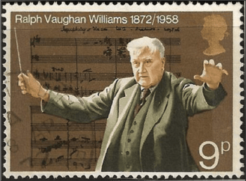 1972 United Kingdom postage stamp commemorating the 100th anniversary of the birth of Ralph Vaughan Williams.
