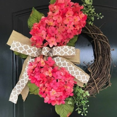 Hydrangea Wreath for Door