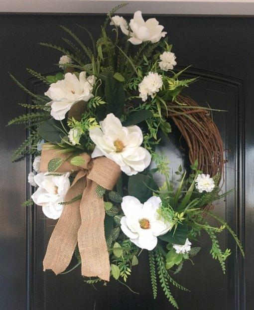 Farmhouse Magnolia Wreath