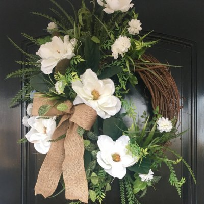 Farmhouse Magnolia Wreath