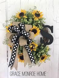 Monogram Wreath for Summer
