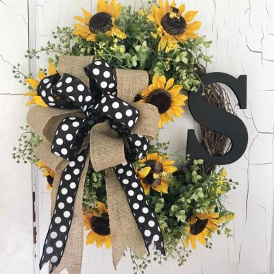 Sunflower Wreath with Monogram