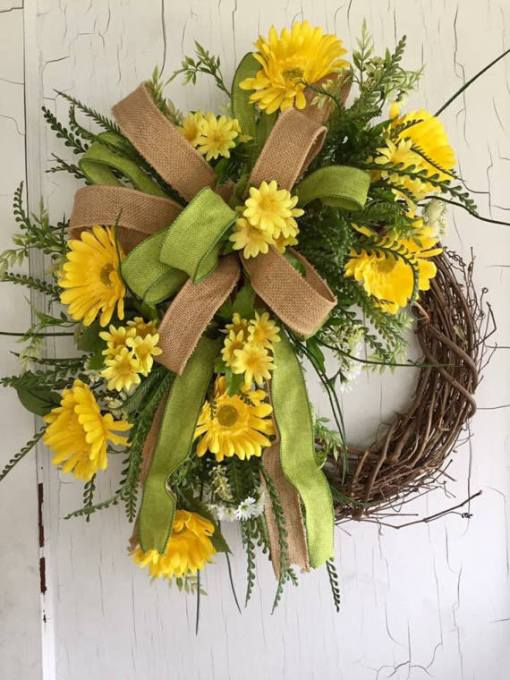 summer daisy wreath