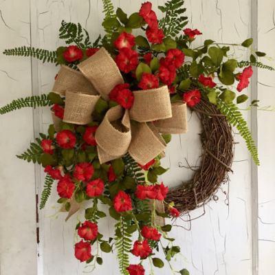 Petunia Wreath for Summer