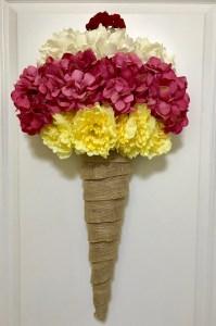 Ice Cream Cone Wreath