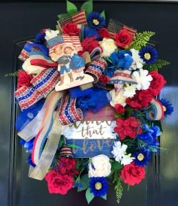 Vintage Patriotic Wreath