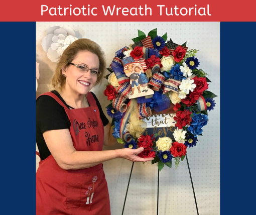 Learn to Make a Patriotic Grapevine Wreath