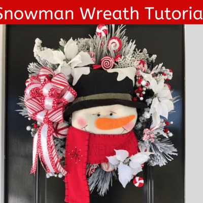 How to Make a Snowman Wreath Tutorial