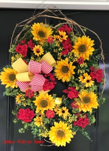 Front Door Sunflower Wreath