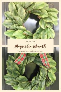 How to Make an EASY Magnolia Wreath for Your Door!