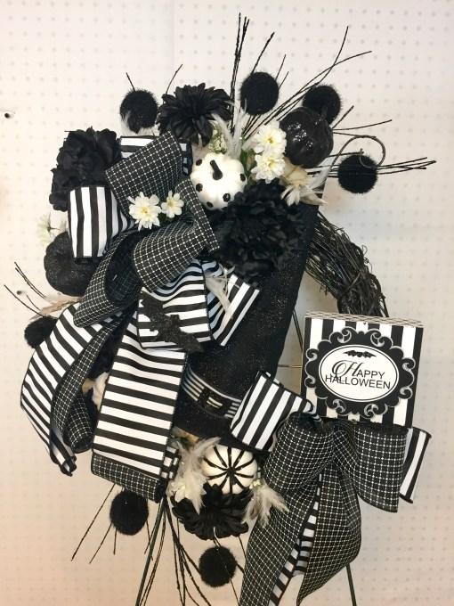 Black & White Halloween Wreath