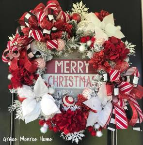Decorated Chriistmas Wreath with Free Shipping!