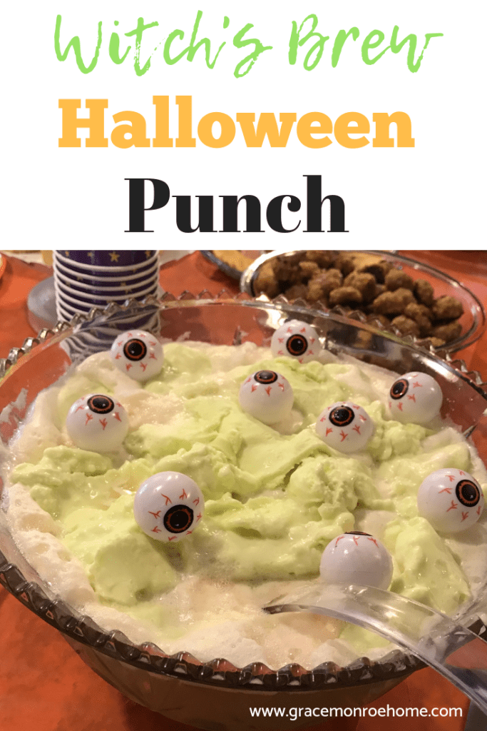Green Halloween Punch - Witches Brew Recipe - Halloween Party Ideas