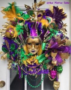Wreath for Mardi Gras