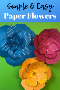 How to Make Large Paper Flowers Tutorial