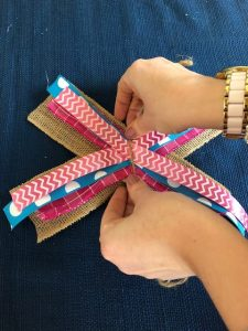 Step by step instructions for making an easy bow