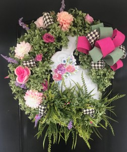 Front Door Wreath for Spring