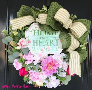 How to Make a Front Door Wreath for Spring