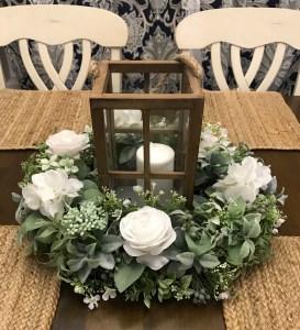 DIY Lantern Wreath