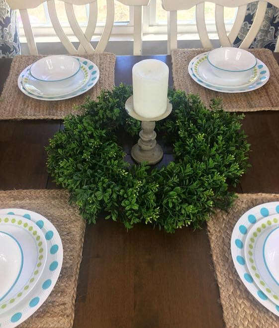 Farmhouse Style Boxwood Wreath