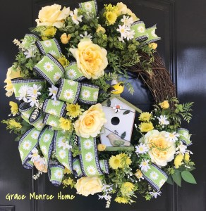 Spring Wreath by Grace Monroe Home
