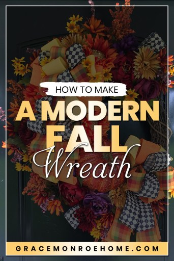 How to Make a DIY Fall Wreath with a Modern Twist!