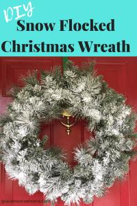Easy DIY Flocked Christmas Tree or Christmas Wreath