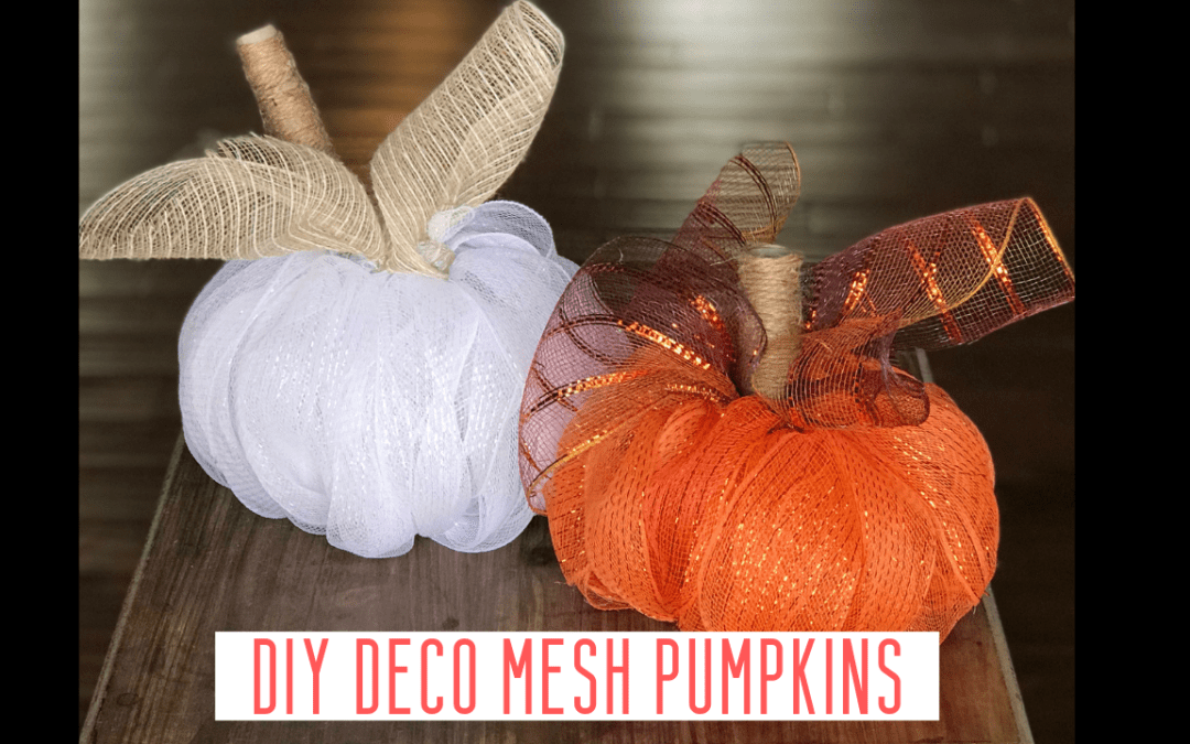 How To Make a Deco Mesh Pumpkin