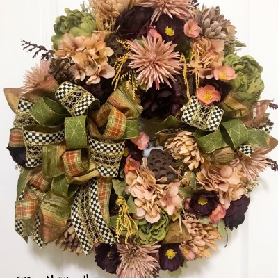 Luxury Fall Wreath by Grace Monroe Home