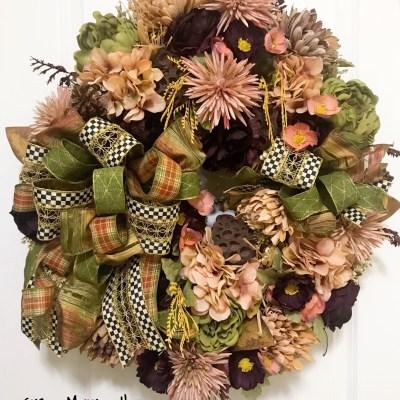 Luxury Fall Wreath by Grace Monroe Home