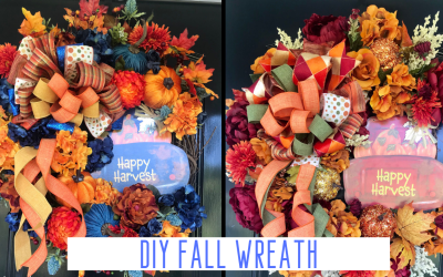 Fall Wreath Made With Dollar Tree Red Truck Sign