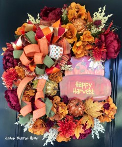 DIY FAll Wreath With Red Truck Sign from Dollar Tree