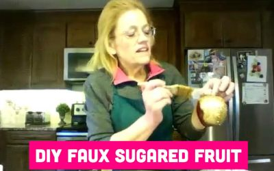 How to Make Faux Sugared Fruit for Wreaths