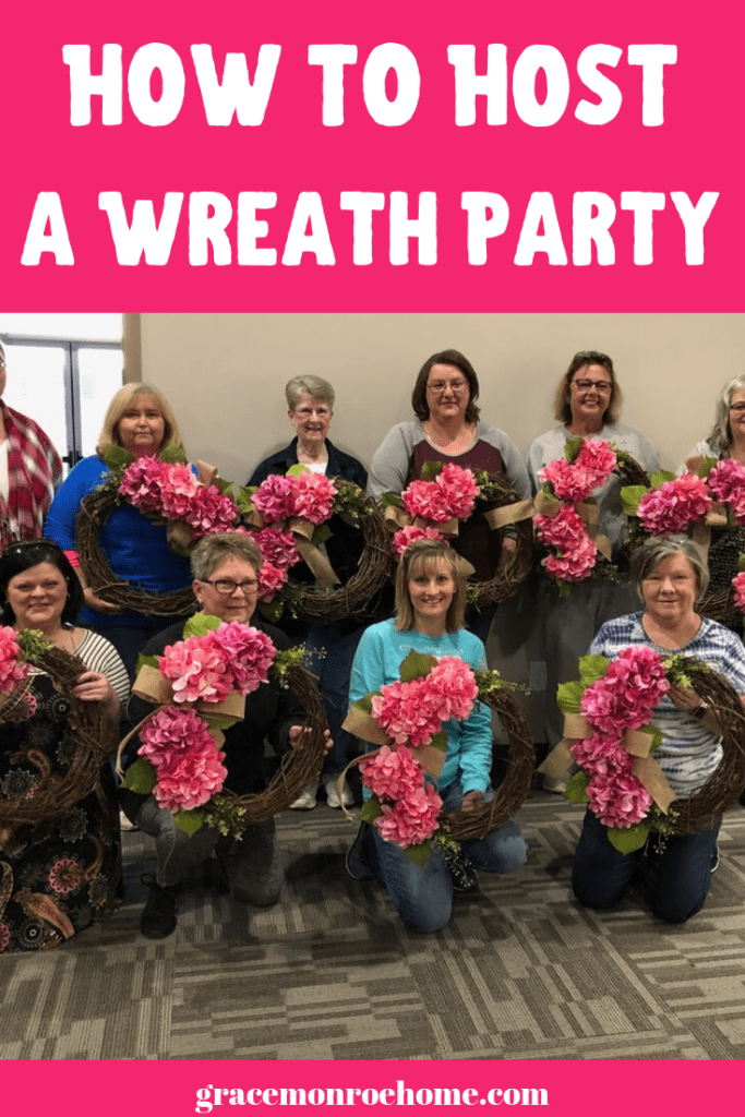 How to Host Your Own Wreath Party - DIY Wreath Class