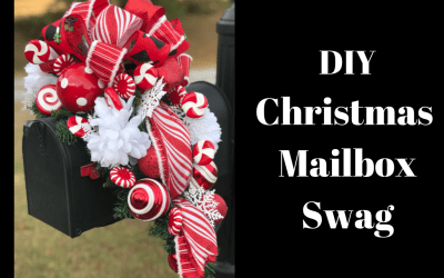 How to Make a Christmas Mailbox Swag