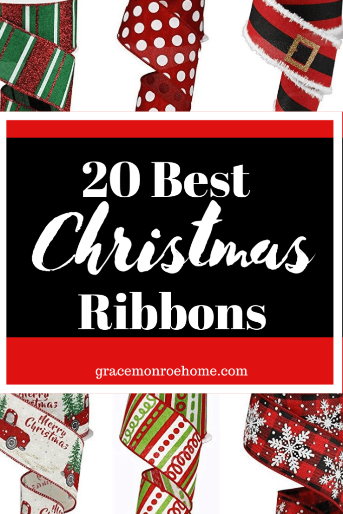 The Most Beautiful Christmas Ribbon for Bows, Wreaths, and Holiday Decor!