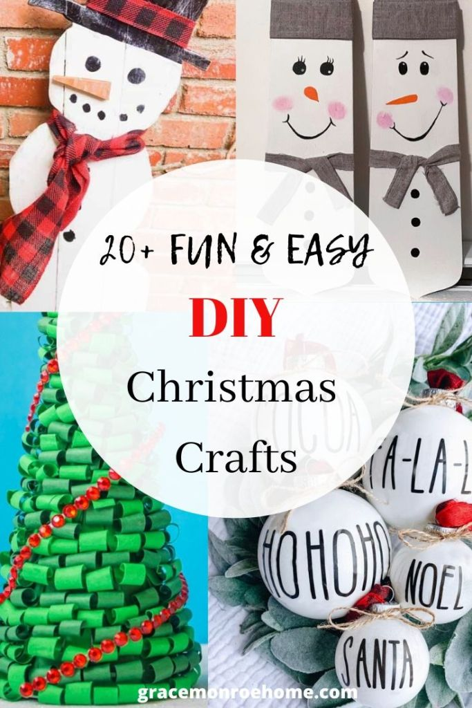 20+ Awesome Crafts to Make This Christmas #holidaydecor #crafts #diy
