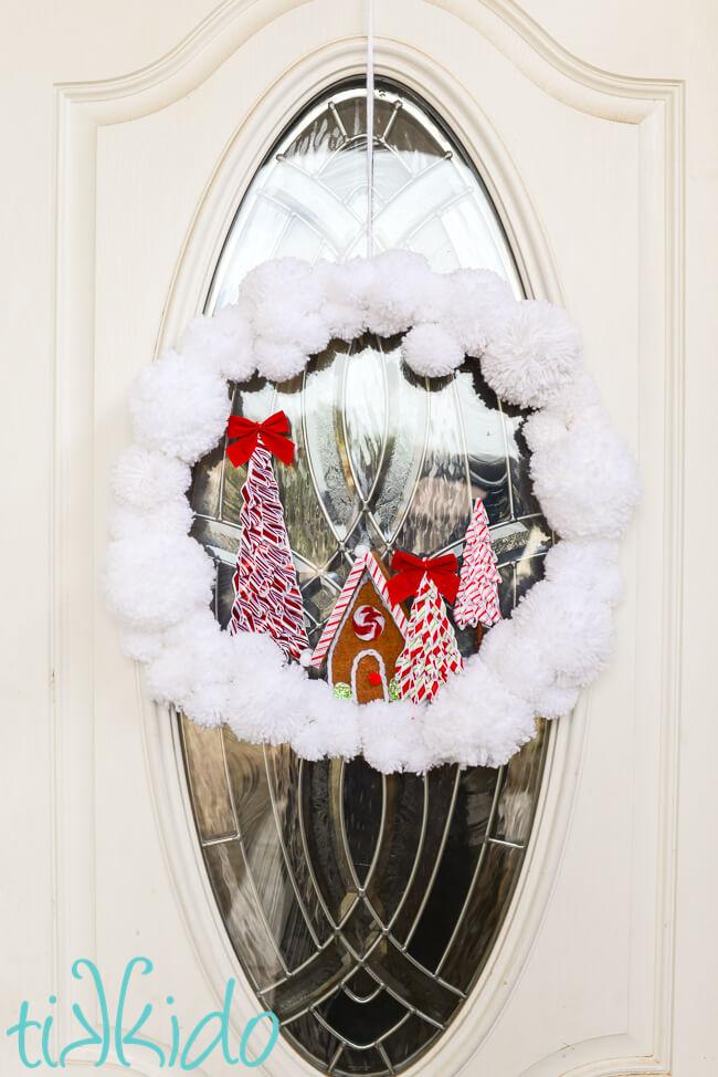How to Make an Easy DIY Pom Pom Yarn Wreath