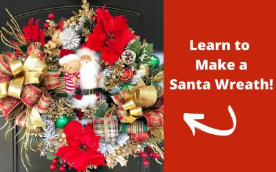 How to Make a Santa Christmas Wreath