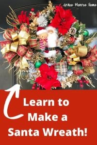 Learn How to Make a Santa Themed Christmas Wreath