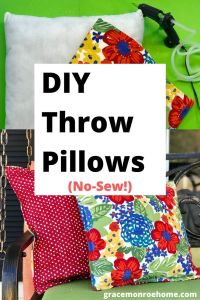 How to Make Throw Pillows - No Sew & Super Easy!
